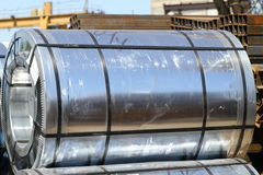 Rolled steel. Is a raw material for further processing Royalty Free Stock Photography