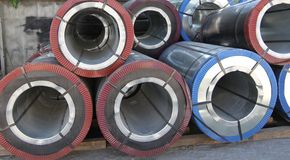 Rolled steel Stock Photos