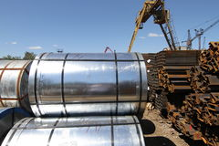 Rolled steel Stock Photography