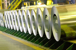 Rolled steel coils Royalty Free Stock Photography