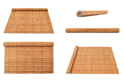 Rolled straw mat isolated Stock Photography