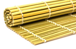 Rolled straw mat Stock Image