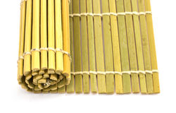 Rolled straw mat Stock Images