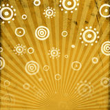 Rolled sun pattern Royalty Free Stock Photo