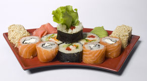 Rolled and sushi Stock Image