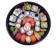 Rolled and sushi Stock Photos