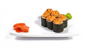 Rolled and sushi Royalty Free Stock Photography