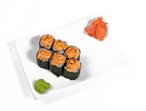 Rolled and sushi Royalty Free Stock Images