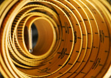 Rolled tape line Royalty Free Stock Photos