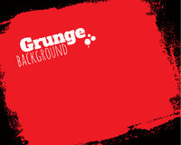Rolled textured grunge red background Royalty Free Stock Photography