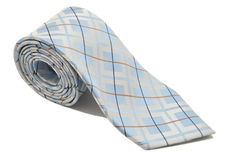 Rolled Tie. Rolled Blue and brown striped Tie stock photos