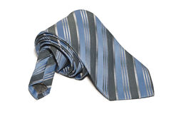 Rolled tie. White background isolate Stock Images