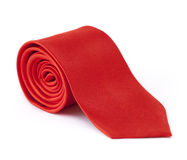 Rolled tie isolated on white background Stock Images