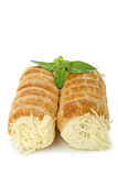 Rolled to the cheese Royalty Free Stock Image