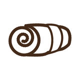 Rolled towel icon image Stock Images