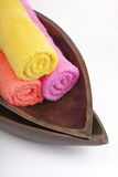 Rolled towel Stock Photography
