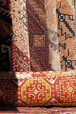 Rolled Turkish carpets Stock Images