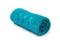 Rolled Turquoise Towel Royalty Free Stock Image