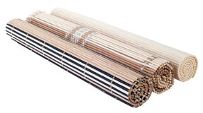 Rolled up bamboo mat Royalty Free Stock Photos