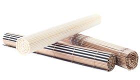 Rolled up bamboo mat Stock Photos