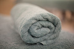 Rolled up bath towel Royalty Free Stock Images