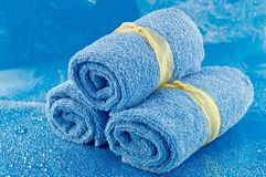 Rolled up Bath Towels Royalty Free Stock Images
