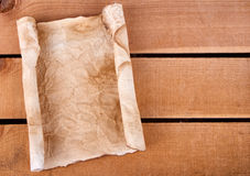 Rolled up blank paper Stock Photos