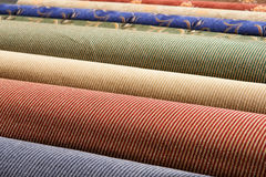 Rolled up carpets Stock Image
