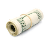 Rolled up dollar bills Royalty Free Stock Photo