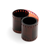 Rolled up film isolated on white Royalty Free Stock Images