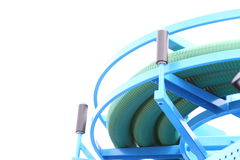 Rolled up of gree plastic hose Royalty Free Stock Photo