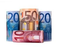 Rolled up hundred euro Royalty Free Stock Photo