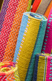 Rolled up indian carpets Royalty Free Stock Image
