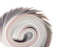 Rolled up magazine Royalty Free Stock Photography