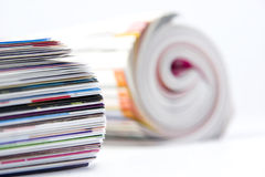 Rolled up magazines Royalty Free Stock Photo