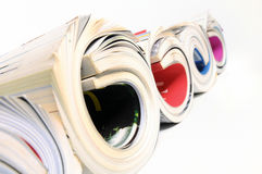 Rolled up magazines Royalty Free Stock Photography