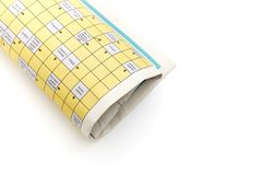 Rolled up newspaper Royalty Free Stock Photo