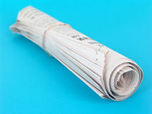 Rolled up newspaper Royalty Free Stock Image