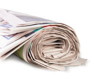 Rolled Up Newspaper stock photography