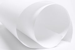 Rolled Up Paper. Close Up of Rolled Up Paper Stock Photography