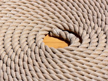 Rolled-up rope stock photos