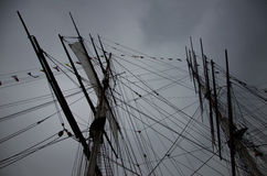 Rolled Up Sails Stock Images