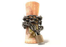Rolled Up And Shackled Rands Standing Stock Images