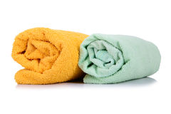 Rolled up towel Stock Image