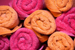 Rolled up towels Stock Images