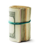 Rolled up US Dollar Bills Stock Photos