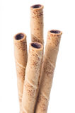 Rolled wafer Royalty Free Stock Image