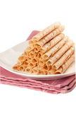 Rolled wafer Stock Photo
