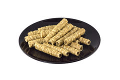 Rolled wafer Royalty Free Stock Photos