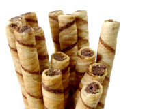 Rolled waffles Royalty Free Stock Photos